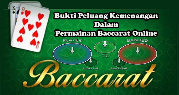 Bukti Peluang Kemenangan Dalam Permainan Baccarat Online